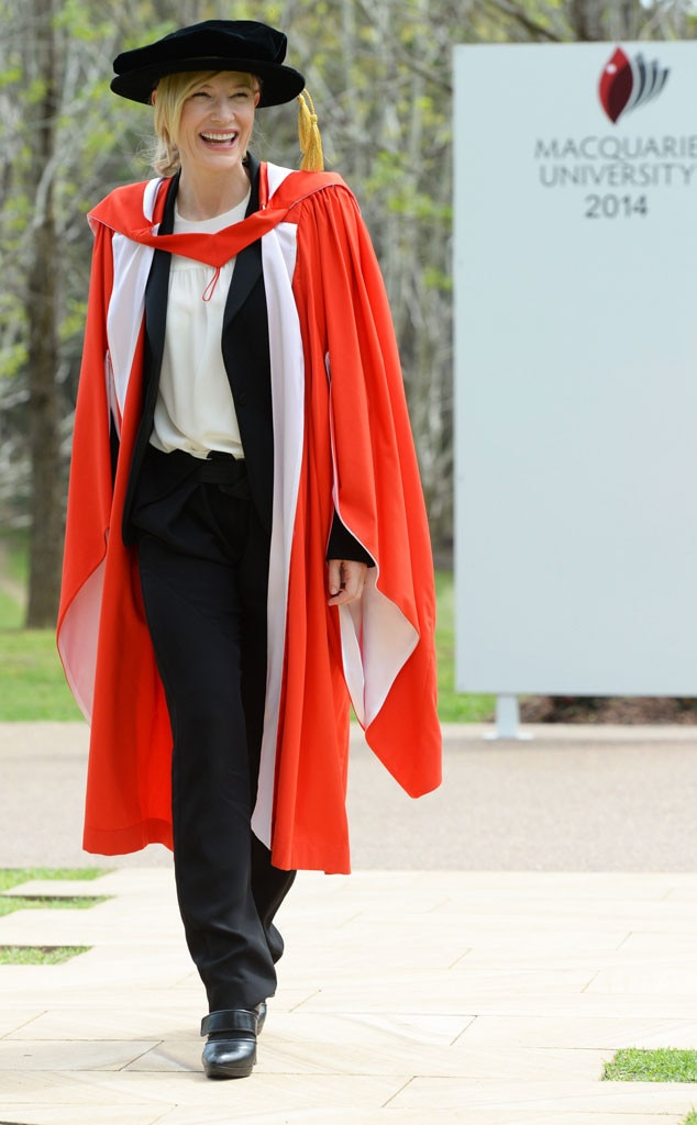 Cate Blanchett -  The Australian actress received an honorary Doctor of Letters degree from Macquarie University in Sydney!