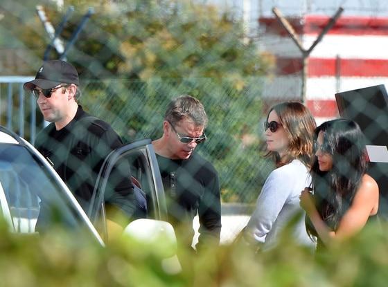 John Krasinski, Emily Blunt, Matt Damon, Luciana Barroso