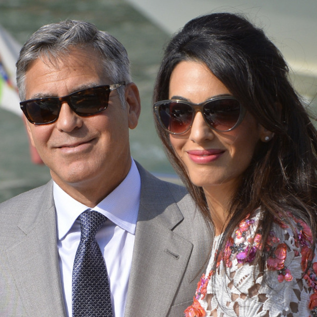 George Clooney & Amal Alamuddin Look So Happy As A Married