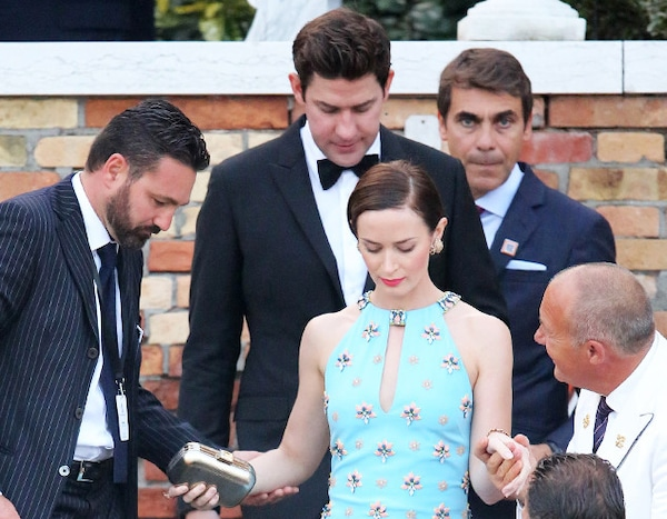 John Krasinski Emily Blunt Wedding.Emily Blunt John Krasinski And Matt Damon From George