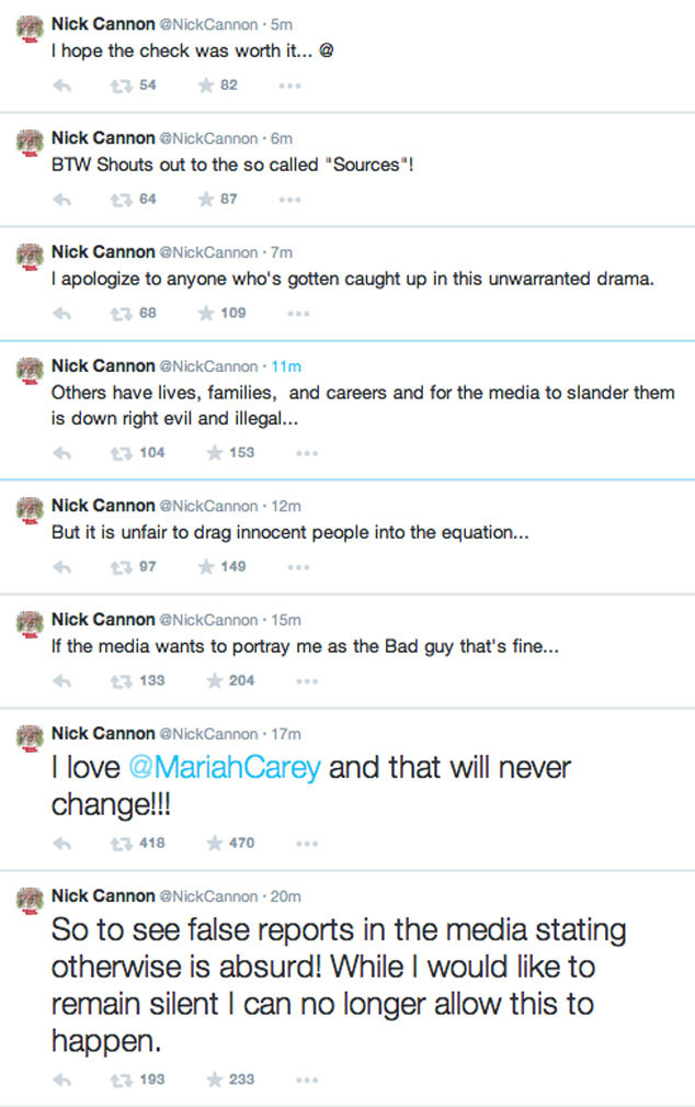 Nick Cannon, Twitter