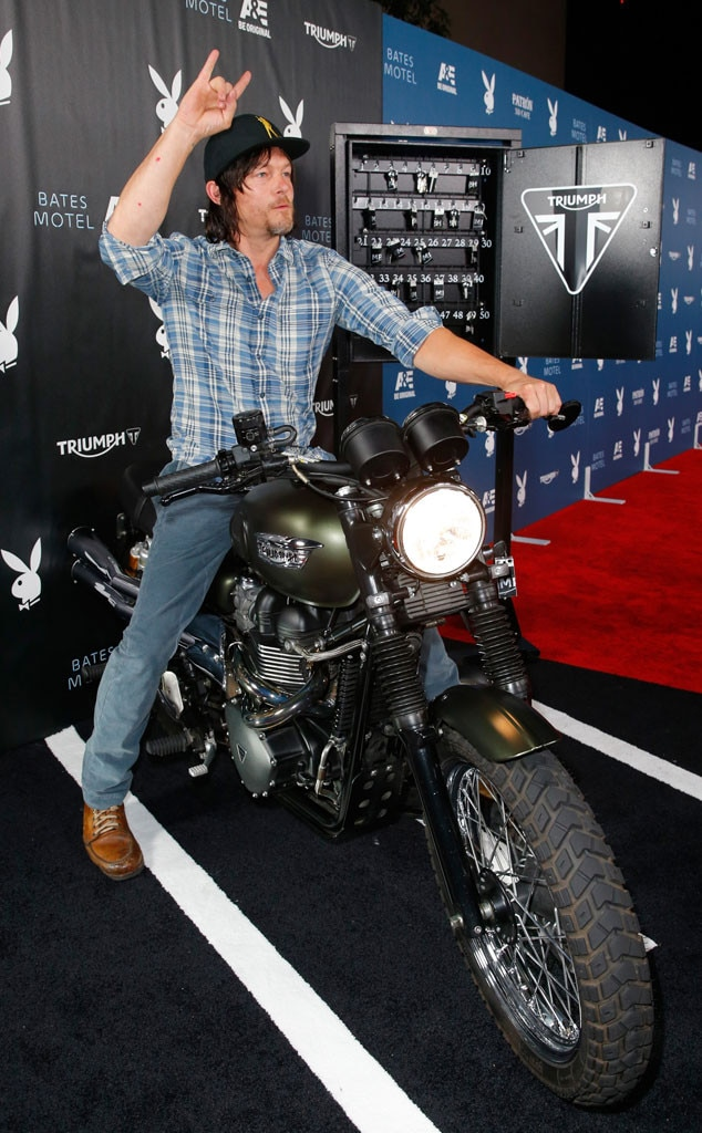 Norman Reedus From Sexy Male Celebs On Motorcycles  E News-8166