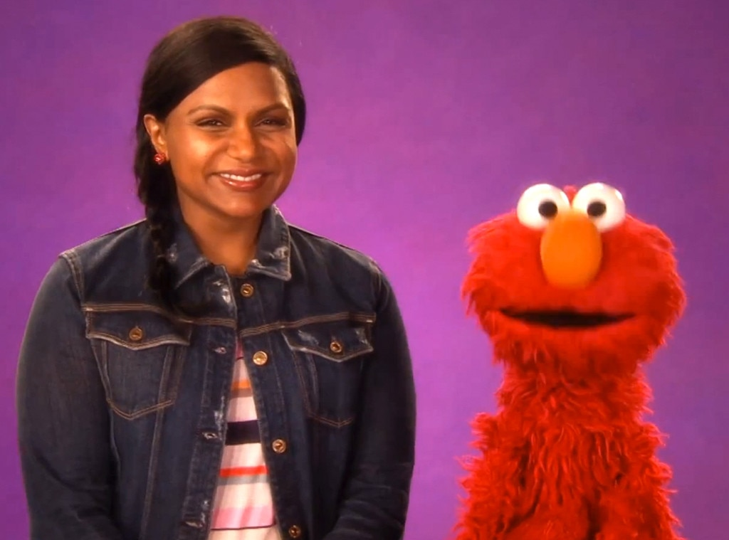 Mindy Kaling, Elmo, Sesame Street