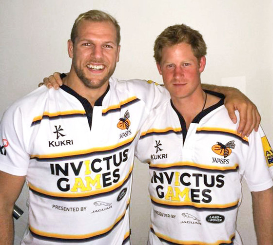 James Haskell, Prince Harry