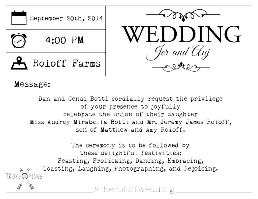 See Jeremy Roloffs Wedding Invitation Little People Big World