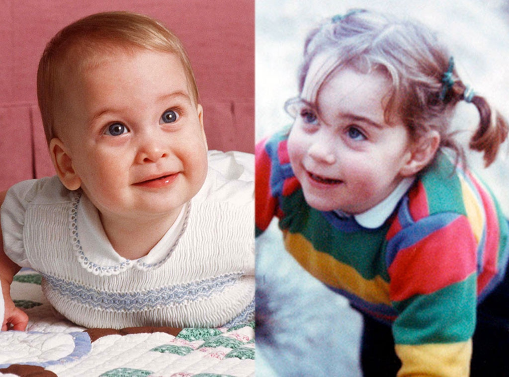 Baby Prince William, Baby Kate Middleton
