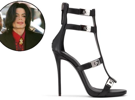 Kim Kardashian, Giuseppe Zanotti, Michael Jackson