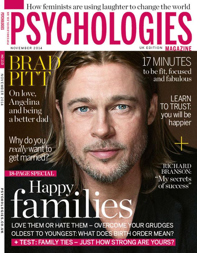 Brad Pitt, Psychologies Magazine