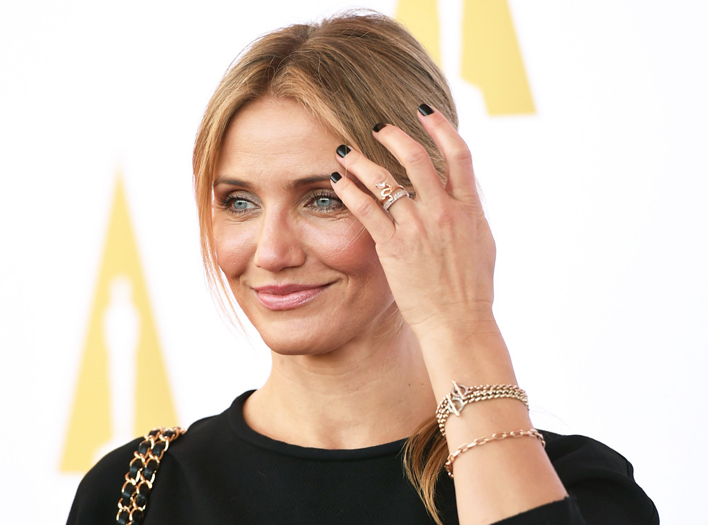 4cef9db155dac Cameron Diaz Engaged to Benji Madden  Actress Wears Sparkling Ring ...