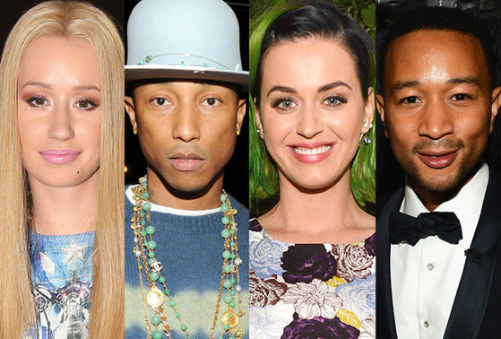 Iggy Azalea, Pharrell Williams, Katy Perry, John Legend