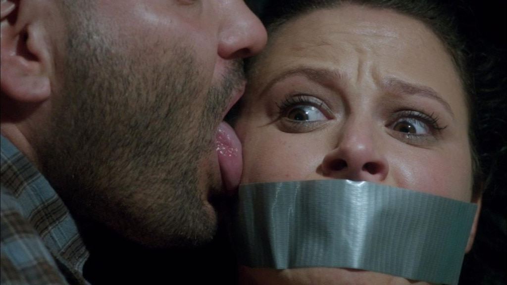 Scandal, Huck licks Quinn's face, season 3, episode 9