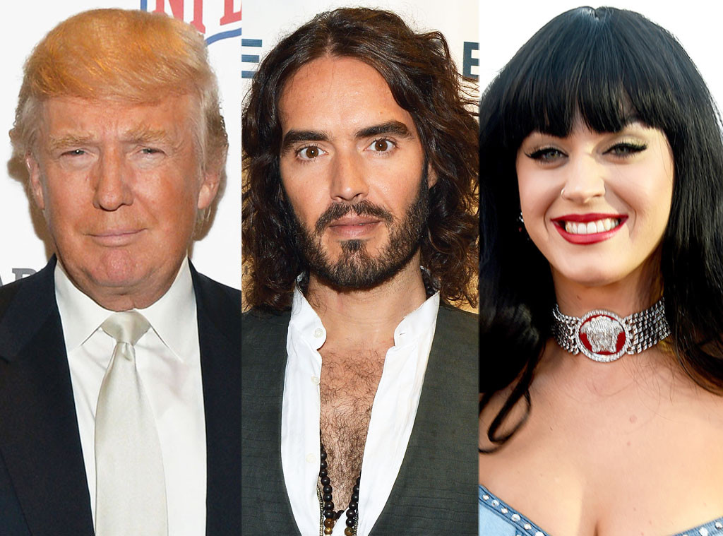 Donald Trump, Russell Brand, Katy Perry