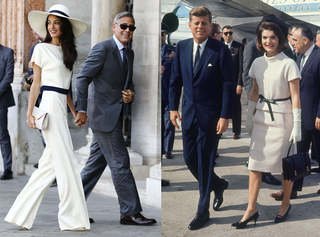 Amal Alamuddin Channels Jackie O in Similarly Chic Outfits  See the Stylish  Pics! d158db28010