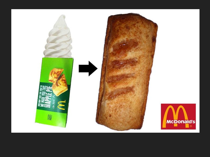 Apple Pie Box Pie A La Mode - McDonald's from 10 Fast Food ...