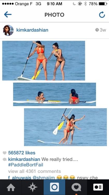 paddleboarding fun from kim kardashian picks and captions her