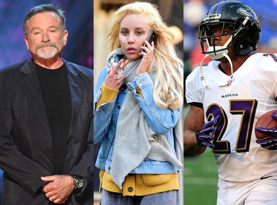 Ray Rice, Amanda Bynes, Robin Williams