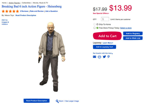 Breaking Bad, Toys R Us Action Figure