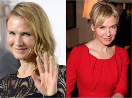 Renee Zellweger de Bridget Jones antes e depois