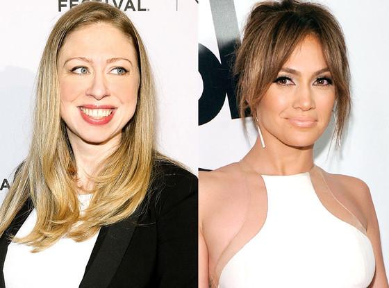 Chelsea Clinton, Jennifer Lopez