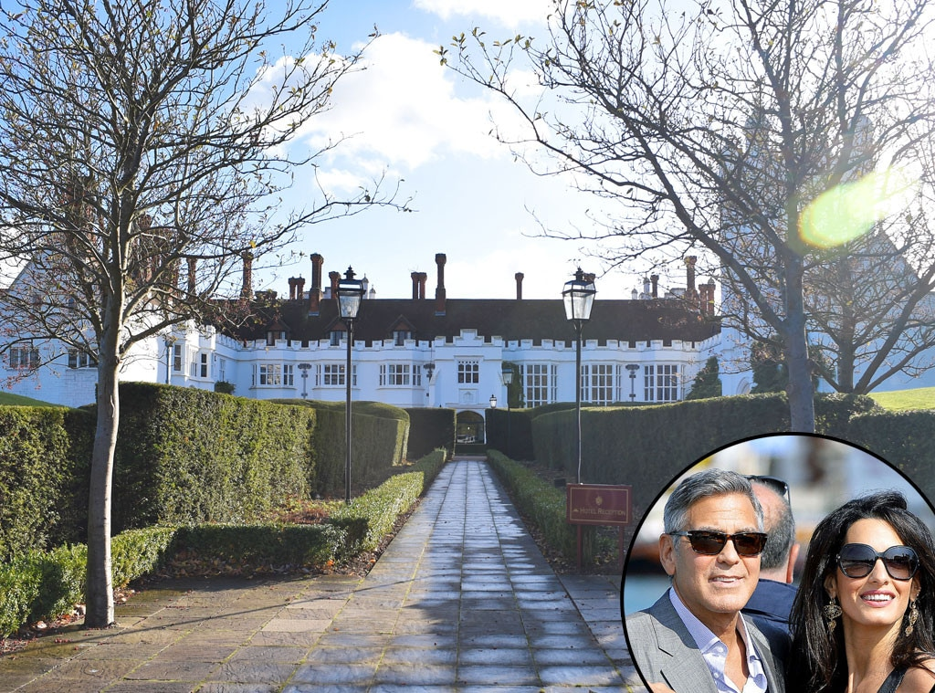 George Clooney, Amal Alamuddin, Dinner Party, Danesfield House Hotel