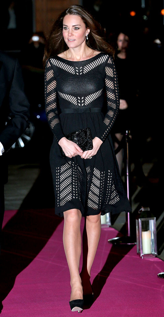 Pregnant Kate Middleton Camouflages Baby Bump With Bold Black Dress
