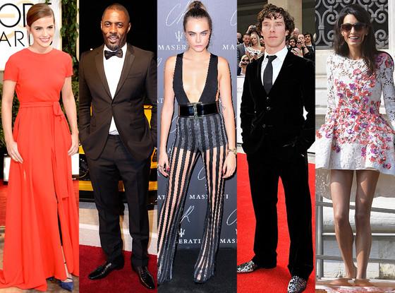 Amal Alamuddin, Emma Watson, Benedict Cumberbatch, Idris Elba, Cara Delevingne