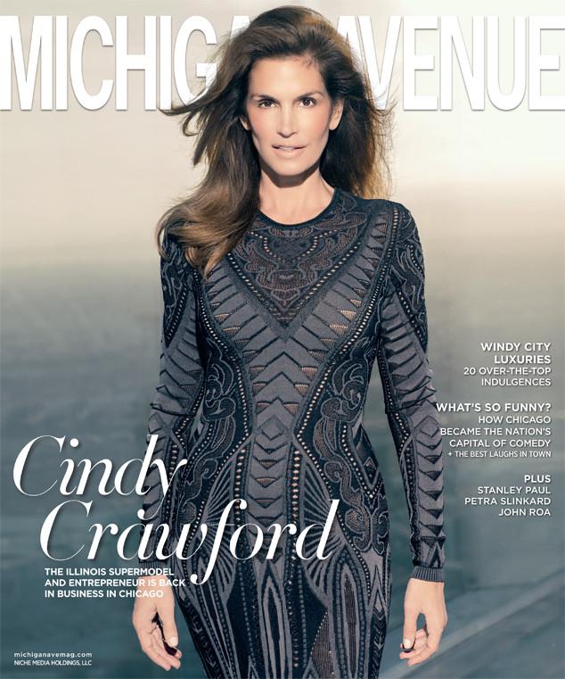 Cindy Crawford, Michigan Avenue Magazine