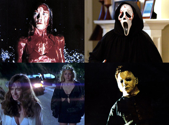 Scream,Carrie, I Know What you did Last Summer, Halloween
