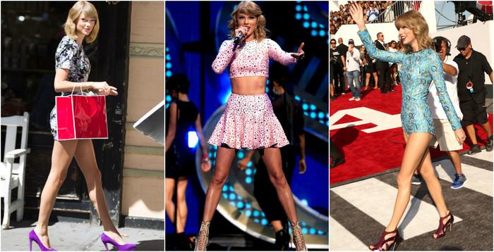 Taylor Swift e os pernões de fora