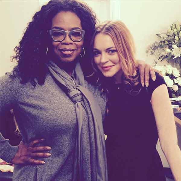 Oprah Winfrey, Lindsay Lohan