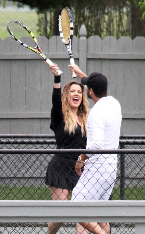 Tennis Pals From Khlo Kardashian And Scott Disicks Love Affair  E News-7636