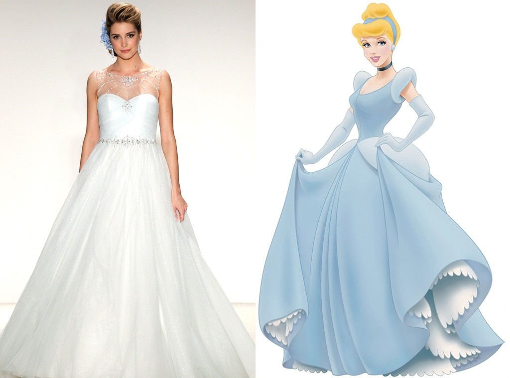 Cinderella from alfred angelo s disney princess wedding for Designer disney wedding dresses