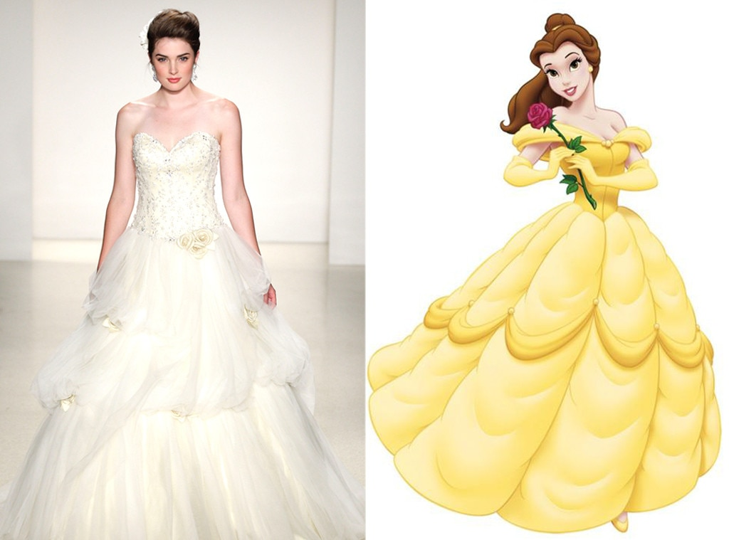 Belle from alfred angelo s disney princess wedding gowns for Disney style wedding dresses