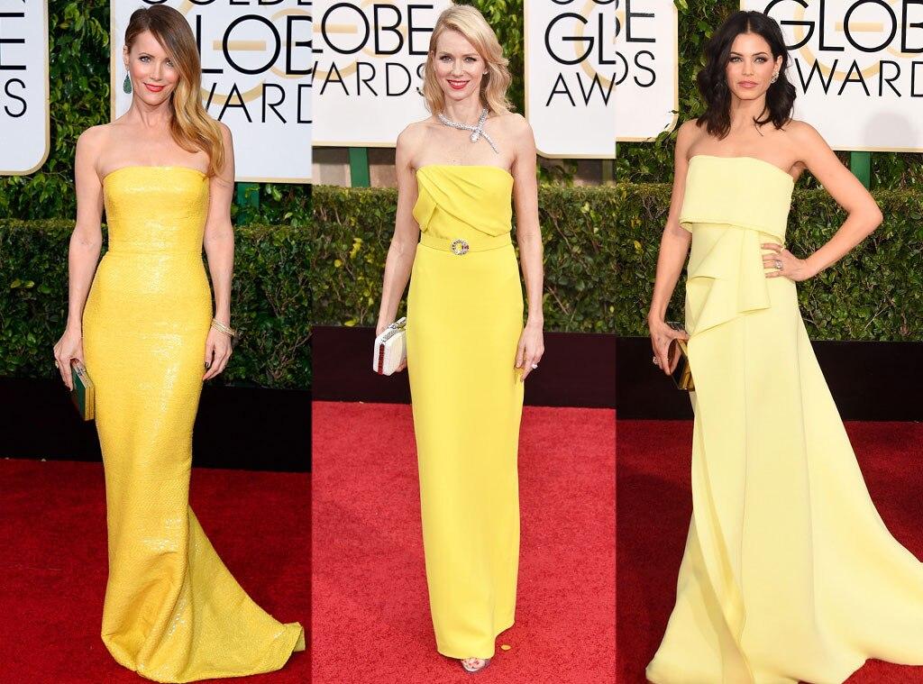 Sunny Yellow Dresses, Golden Globes