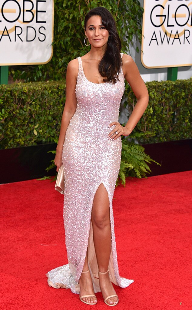Emmanuelle Chriqui From 2015 Golden Globes Red Carpet Arrivals  E News-6486