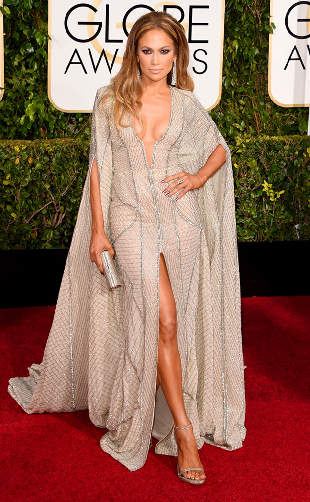 Jennifer Lopez Flaunts Lots of Cleavage, Leg and Everything Else in ...