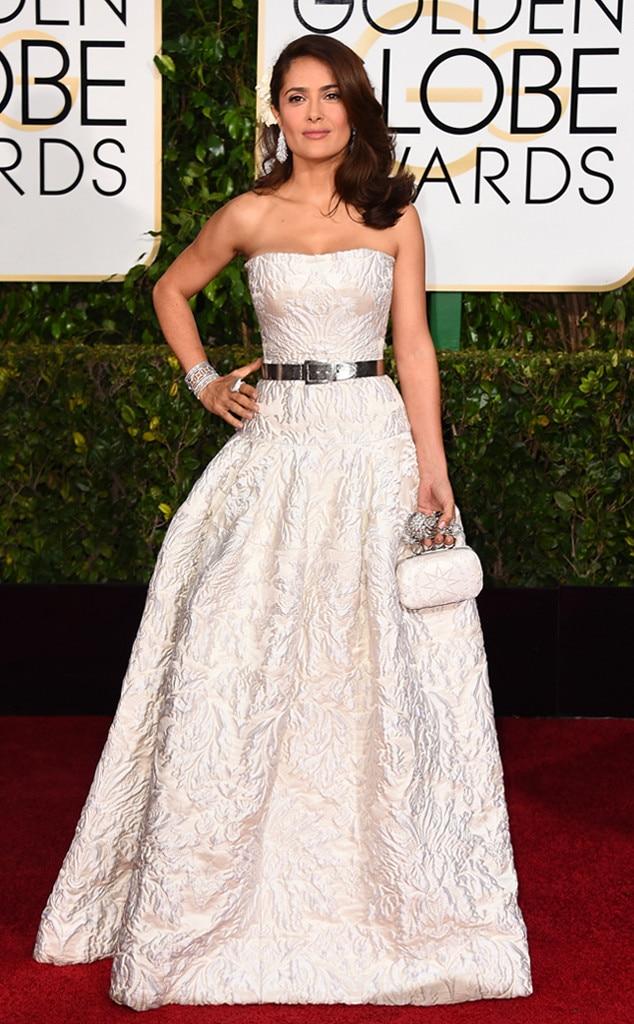 Salma Hayek, Golden Globes, 2015