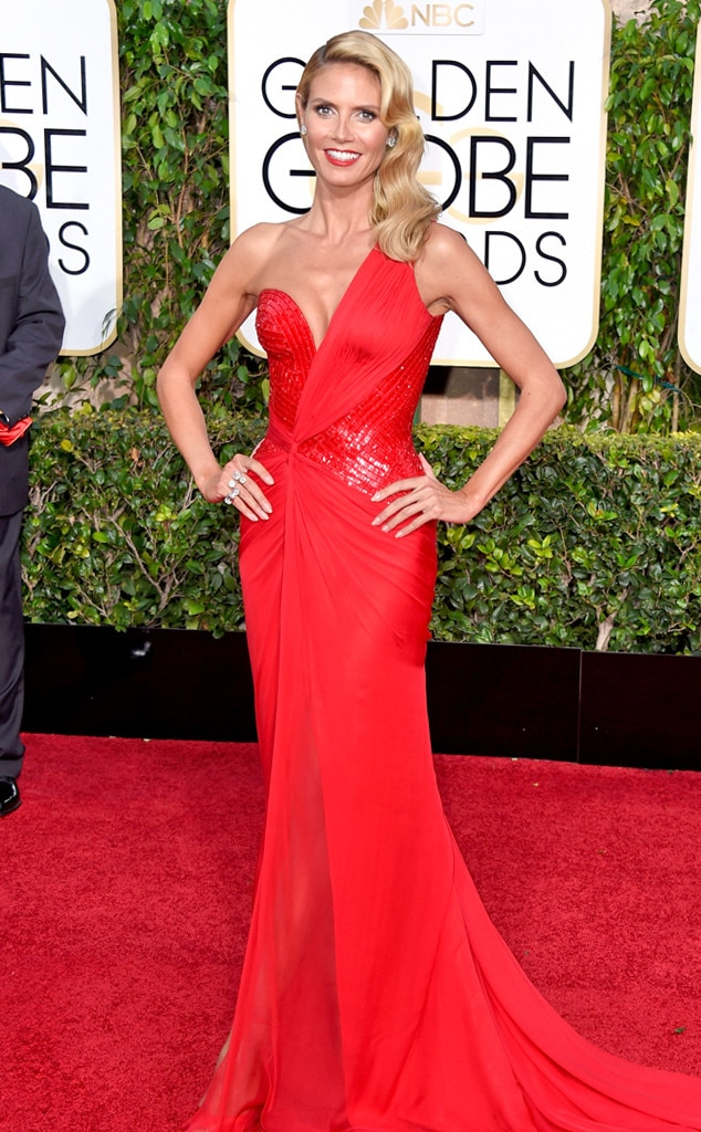 Heidi Klum From 2015 Golden Globes Red Carpet Arrivals E