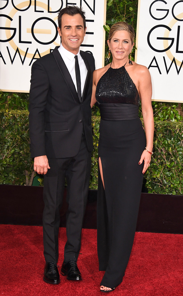 Justin Theroux, Jennifer Aniston, Golden Globes