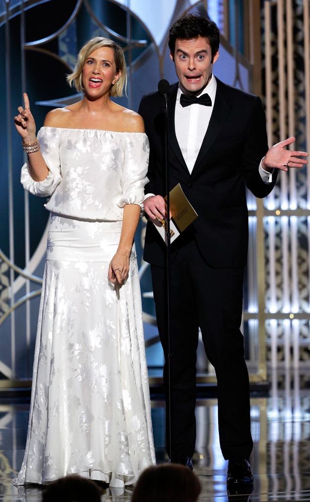 Watch Bill Hader and Kristen Wiigs Amazing Golden Globes