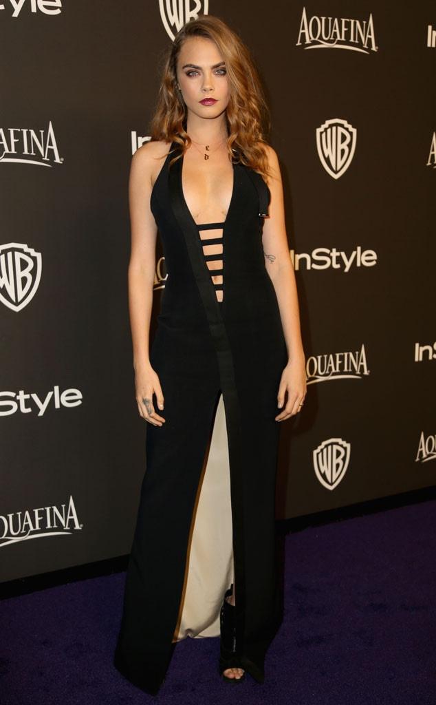 Cara Delevingne, Golden Globe, After Party