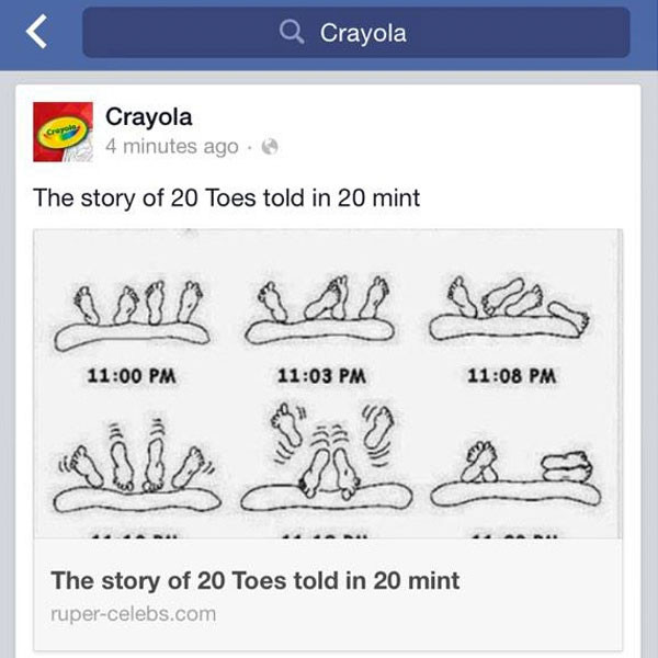 Crayola, Facebook Hack