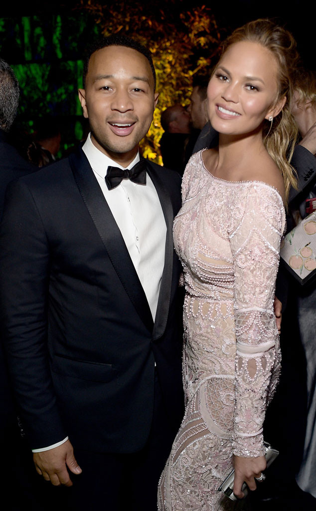 John Legend, Chrissy Teigen, Golden Globe, After Party