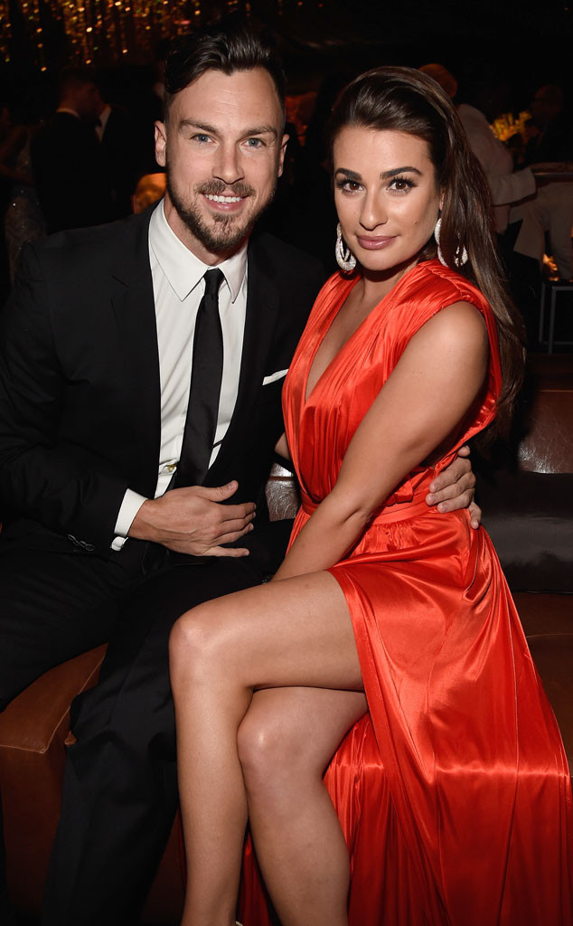 Lea Michele, Matthew Paetz, Golden Globe, Party Pics