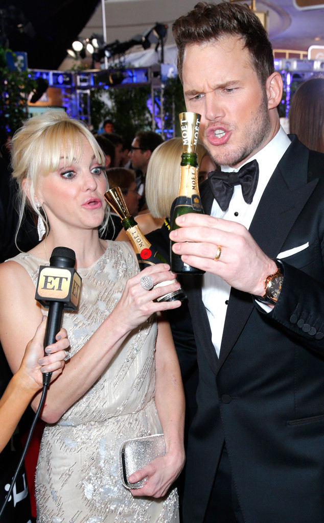 Anna Faris, Chris Pratt, Golden Globes