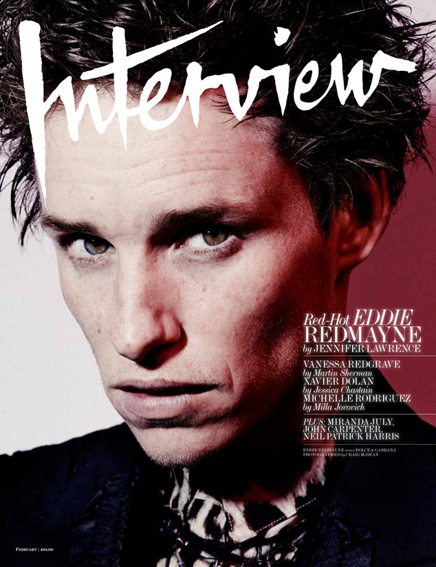 Eddie Redmayne, Interview