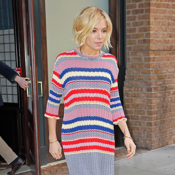 Seeing stripes from sienna miller 39 s street style e news Sienna miller fashion style tumblr