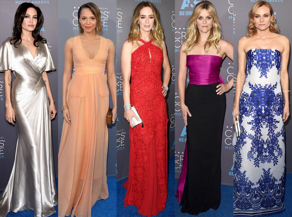 Carmen Ejogo, Angelina Jolie, Diane Kruger, Emily Blunt, Reese Witherspoon, Critics' Choice Awards