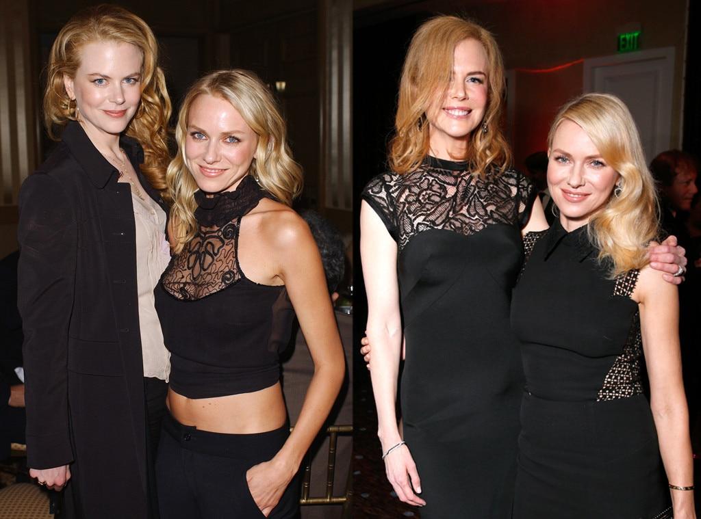 Nicole Kidman, Naomi Watts, Famous Friends Then and Now