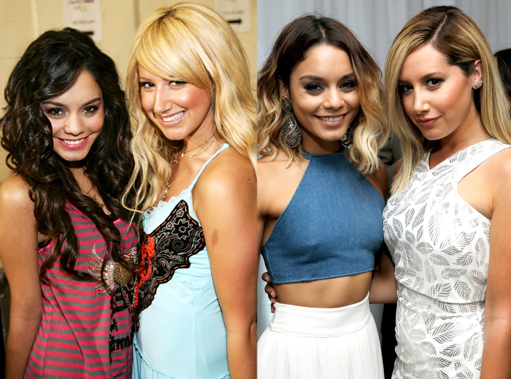 Ashley Tisdale Vanessa Hudgens from Famous Friends Then